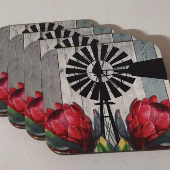 Dark Protea Coasters