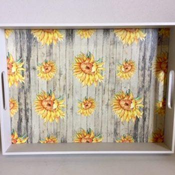Sunflower Printed Tray