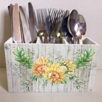 Sunflower Cutlery Holder
