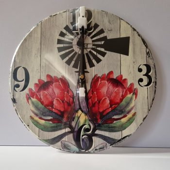 Dark Protea Clock