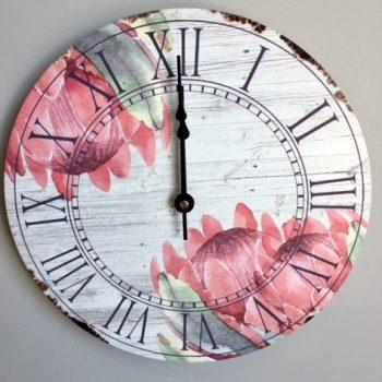 Dark Protea Clock Old Design
